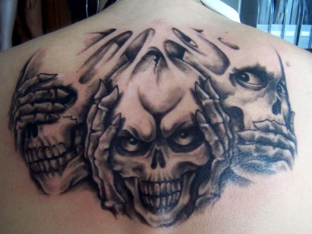 Nichts h ren sehen tattoo pictures for Painkillers for tattoos